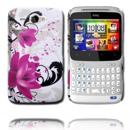 Valentine (Två Lila Rosor) HTC ChaCha Skal