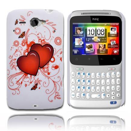 Valentine (Två Röda Hjärtan) HTC ChaCha Skal