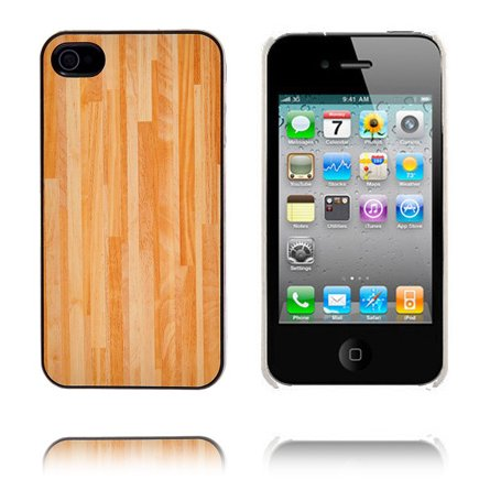 Wood Series (Rak Ljusbrun) iPhone 4 Skal