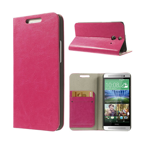 Mankell (Rosa) HTC One (E8) Flip-Fodral