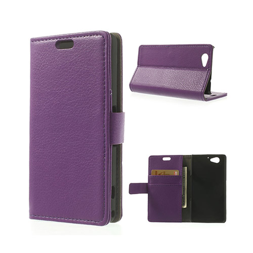Lindgren (Lila) Sony Xperia Z2 Compact Flip-Fodral