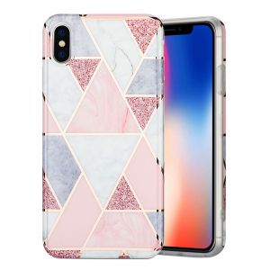 marmor iPhone Xs Max skal - rosa