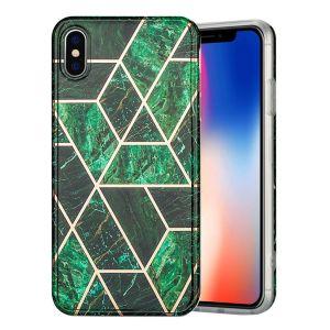 marmor iPhone Xs Max skal - grön