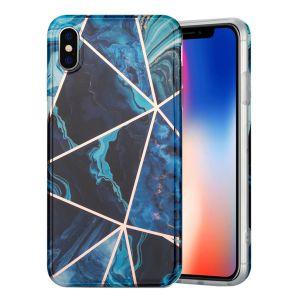 marmor iPhone Xs Max skal - blå