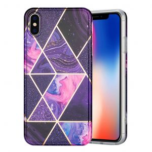 marmor iPhone Xs Max skal - lila