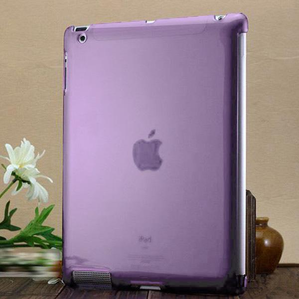 Hårdskal – Transparent Skal för iPad 3/iPad 4 – Ljus Lila