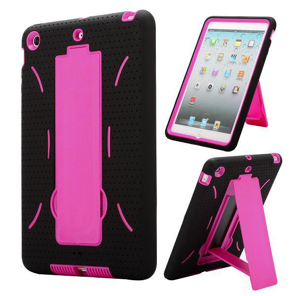 Ultrasäkert – KickStand (Rosa) iPad Mini Kombinationsskal