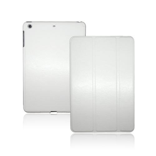 Tri-Fold Cured Leather (Vit) iPad Mini Fodral