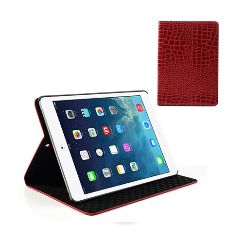 Croco (Röd) iPad Air Läderfodral