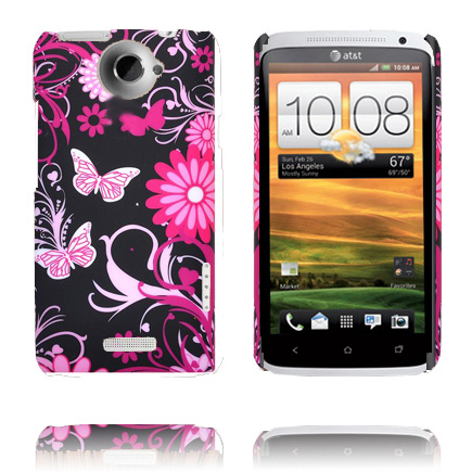 Valentine (Rosa Fjärilar) HTC One X Skal
