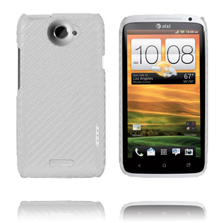 Carbonite Ver. II (Silver) HTC One X Skal