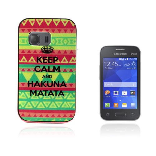 Wester Edge Samsung Galaxy Young 2 Skal – Triangle Prints och Citat