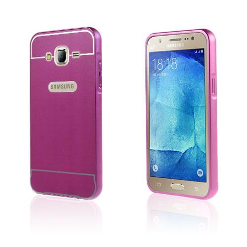 Egeland Samsung Galaxy J5 Metall Bumper – Mörkrosa