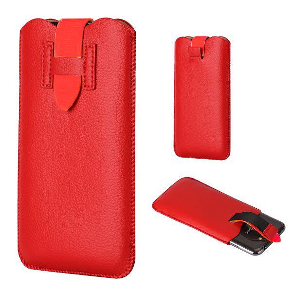 Jacco Samsung Galaxy Note 2 Läderpåse (Röd)