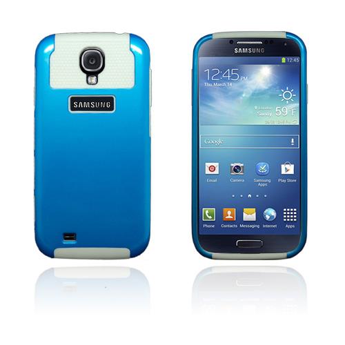 Blue Impact (Vit) Samsung Galaxy S4 Skal