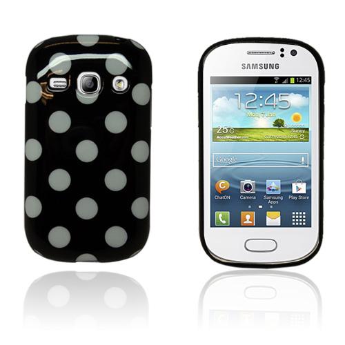 Big Dots (Svart) Samsung Galaxy Fame Skal