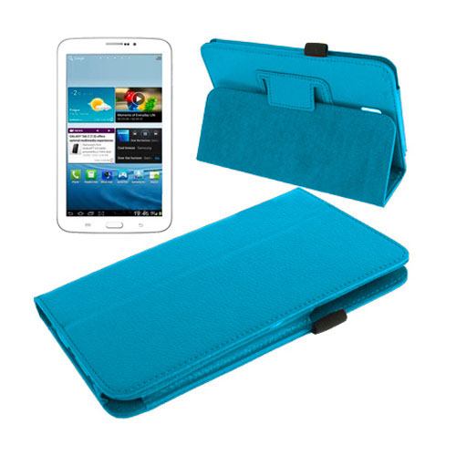 Boston (Blå) Samsung Galaxy Tab 3 7.0 Läderfodral