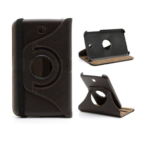 SmartStand (Mörkbrun) Samsung Galaxy Tab 3 Läderfodral