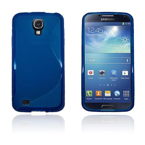 Transparent S-Line (Blå) Samsung Galaxy S4 Active Skal