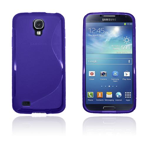 Transparent S-Line (Lila) Samsung Galaxy S4 Active Skal