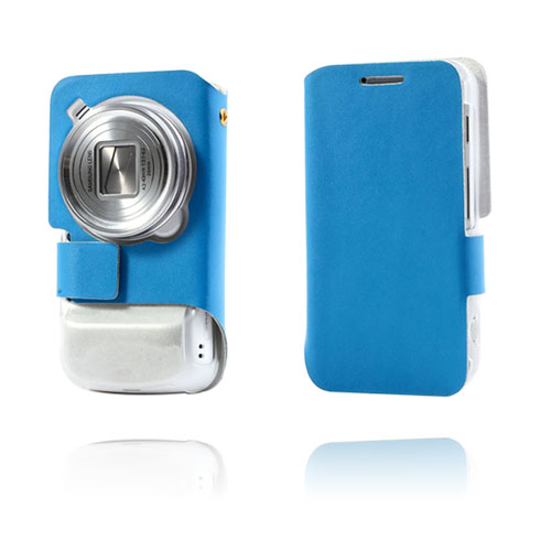 Ambassador (Blå) Samsung Galaxy S4 Zoom Genuint Läderfodral