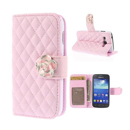 Camellia (Rosa) Samsung Galaxy Ace 3 Flip-Fodral