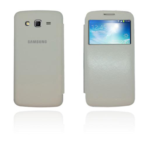 Fuji (Vit) Samsung Galaxy Grand 2 Läderfodral