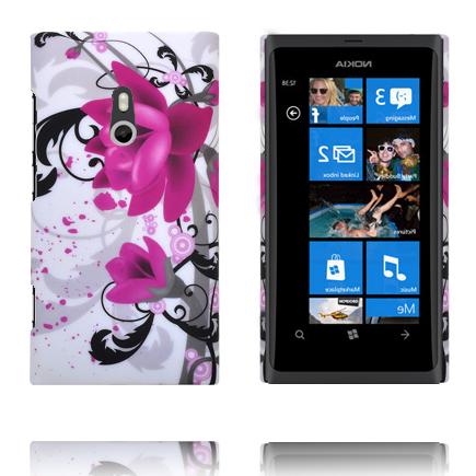 Valentine (Två Lila Blommor) Nokia Lumia 800 Skal
