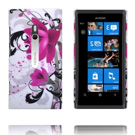 Valentine Big Camera (Två Lila Blommor) Nokia Lumia 800 Skal