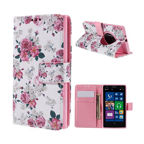 Moberg Nokia Lumia 1020 Fodral – Elegant Full av Blommor Pioner