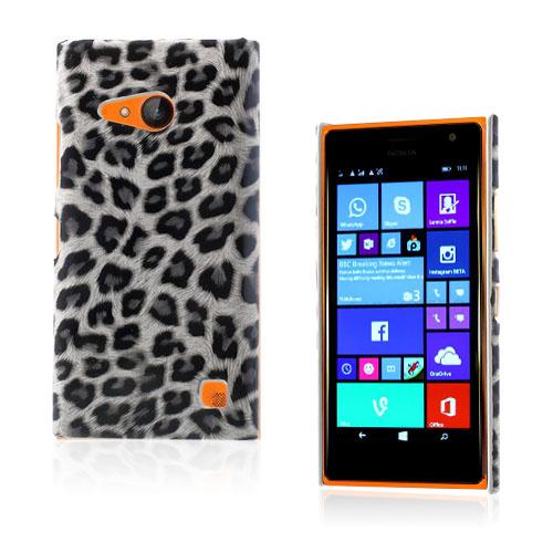 Nature (Vit Leopard) Nokia Lumia 730 Läderbelagt Skal