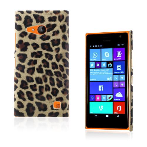 Nature (Brun Leopard) Nokia Lumia 730 Läderbelagt Skal