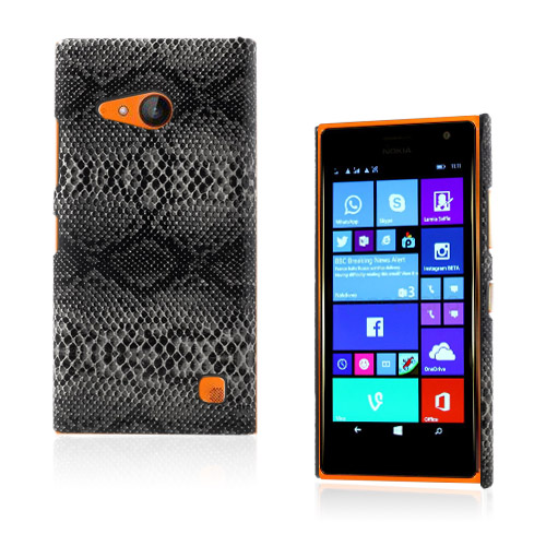 Nature (Svart Orm) Nokia Lumia 730 Läderbelagt Skal