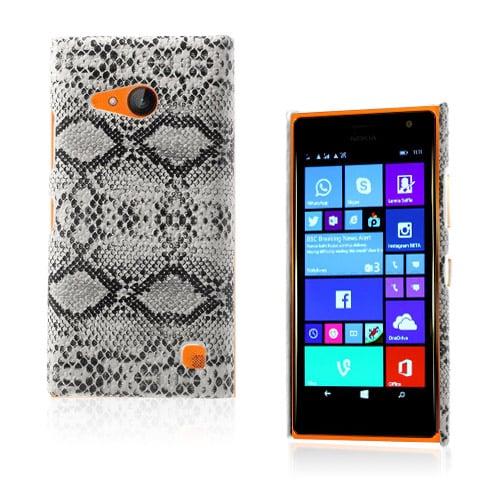Nature (Vit Orm) Nokia Lumia 730 Läderbelagt Skal