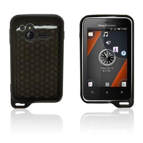 Cubes (Grå) Sony Ericsson Xperia Active Skal