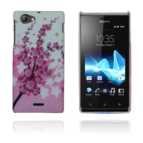 Flower Power (Rosa) Sony Xperia J Skal