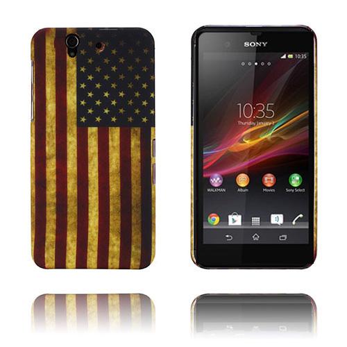 Old Flag (USA) Sony Xperia Z Skal