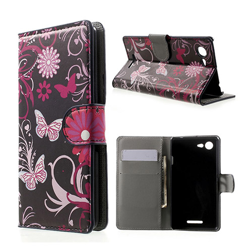 Moberg (Pink Butterfly Sony Xperia E3 Fodral