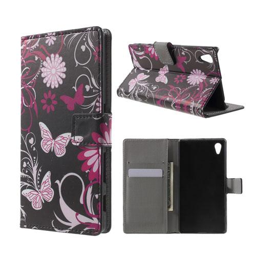 Moberg Sony Xperia Z5 Fodral – Fjäril Blommor
