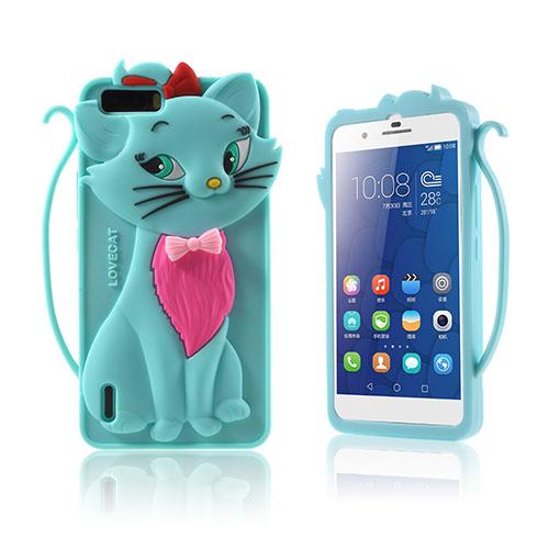 3D Katt Huawei Honor 6 Skal – Blå