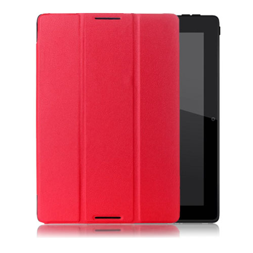 Gaarder Lenovo IdeaTab A10-70 Läderfodral med Stativ – Röd