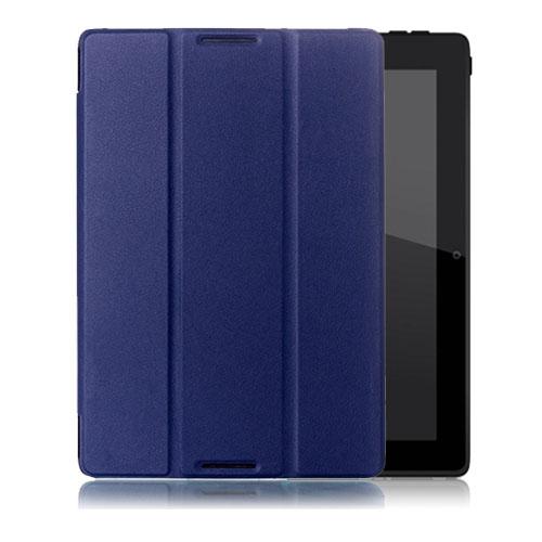 Garff Lenovo IdeaTab A10-70 Leather Tri-fold Case – Blå