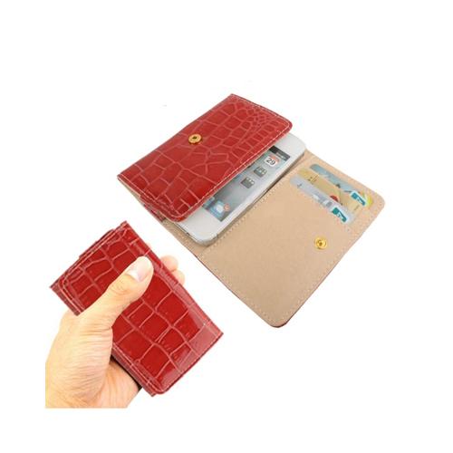 Crocodile – Läderfodral för Smartphones (Röd)
