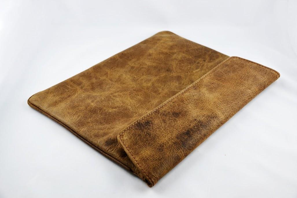 Luxury Bag (Brun) Äkta Läderväska för Tablets