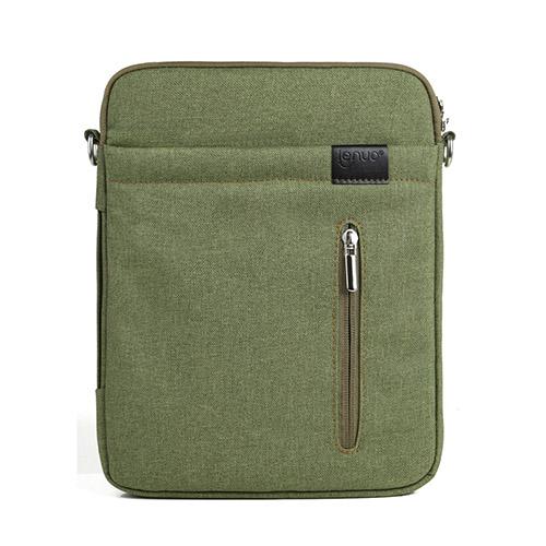 Lenou Linen Väska (Grön) För Tablets och Smartphones