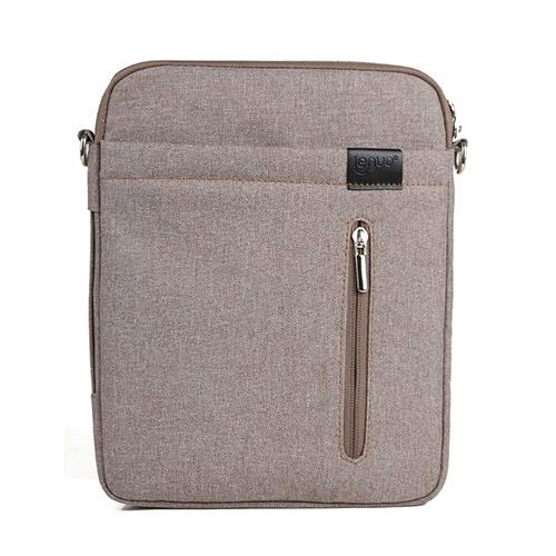 Lenou Linen Väska (Kaki) För Tablets och Smartphones