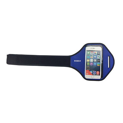 """ROMIX Sport Armband till Løb till 5,5"""" Smartphones – Blå"""