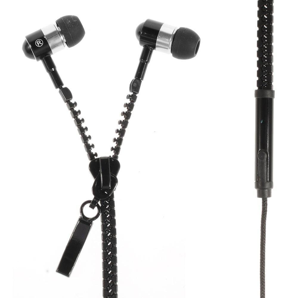 Zipper Hörlurar (Svart) med Mikrofon