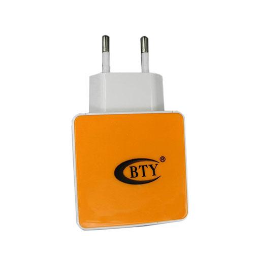 BTY M507 Orange 5V 1.2A Universell USB Laddare – EU Stickpropp