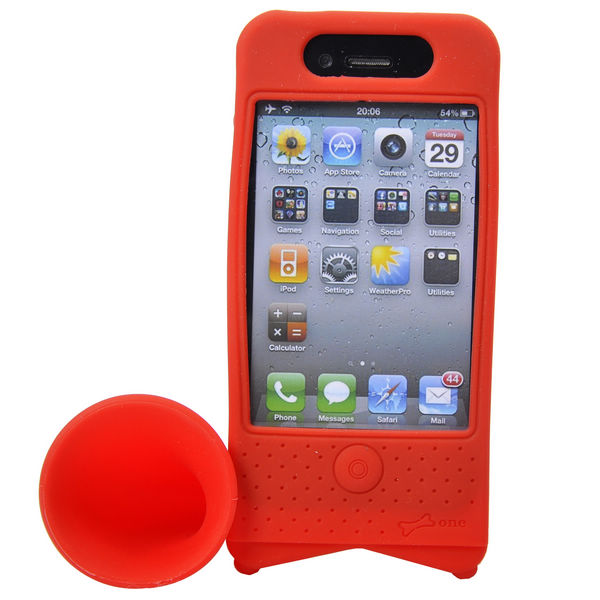 iPhone 4 (Röd) Bike Horn – Cykelhållare